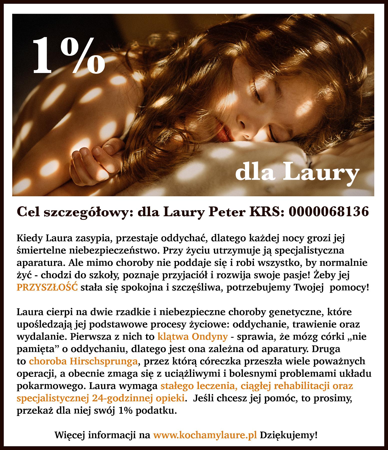 1 procent podatku dla Laury