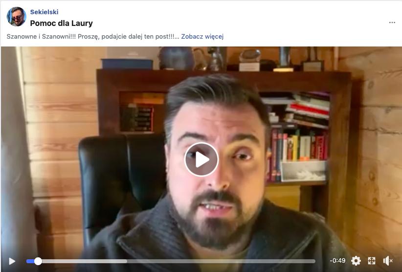 Tomasz Sekielski - pomoc dla Laury Peter