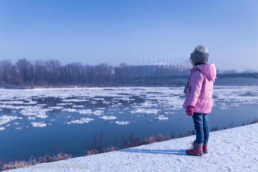 Laura nad Wisłą - Warszawa 2017 - zimowy krajobraz