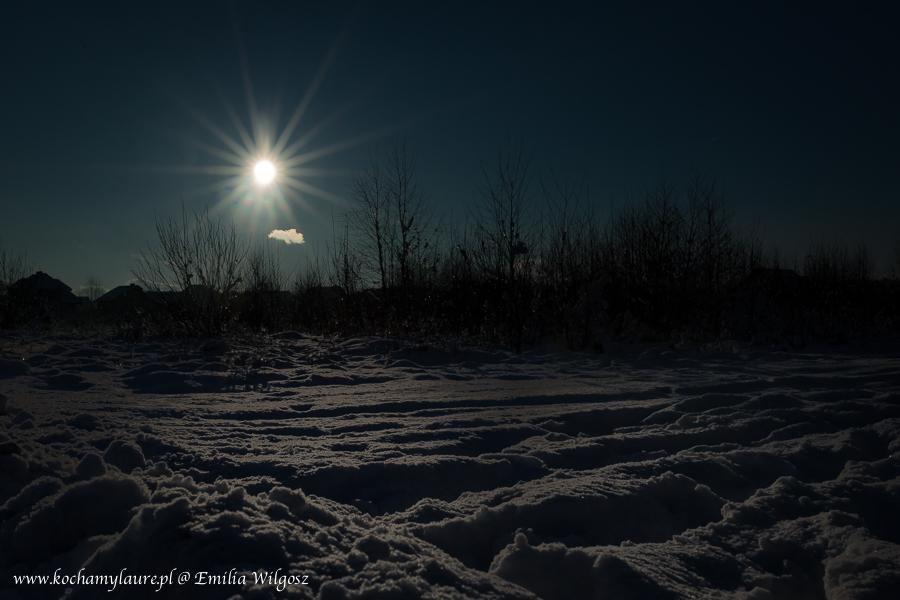 Zimowy zachód słońca