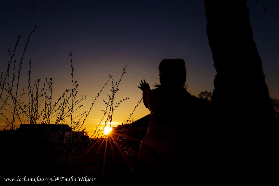 Pożegnanie słońca - fotografia plenerowa
