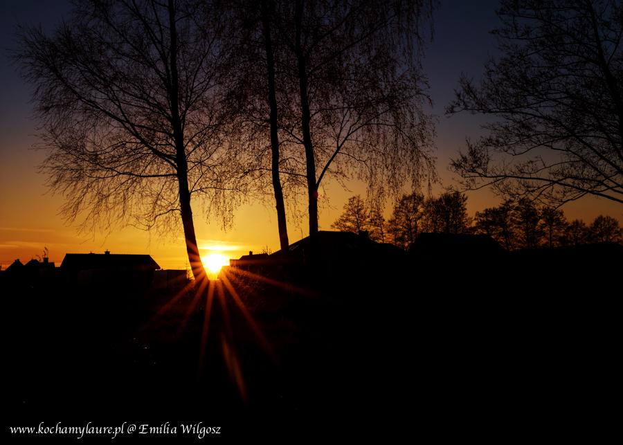 Zachód słońca w naszej wsi