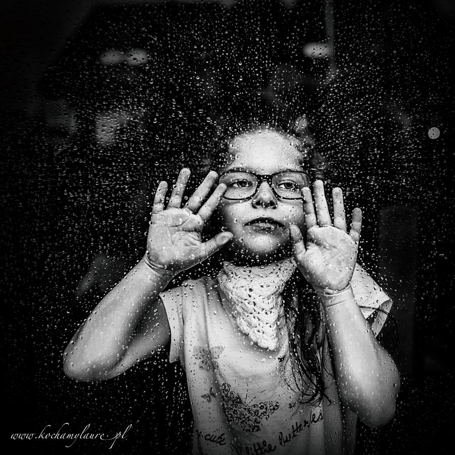 Cała w kroplach - fotografowanie dzieci