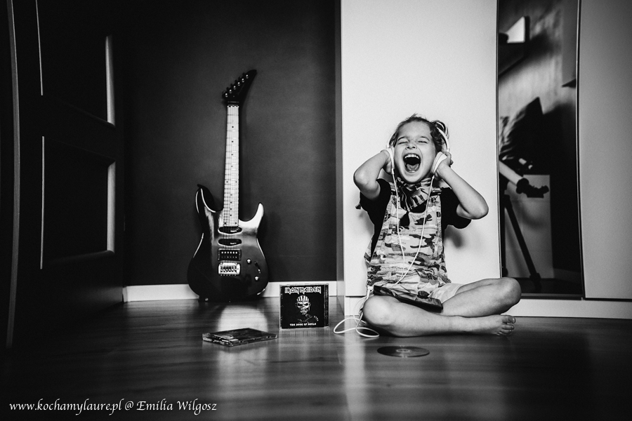 Dziecko słucha Iron Maiden - heavy metal