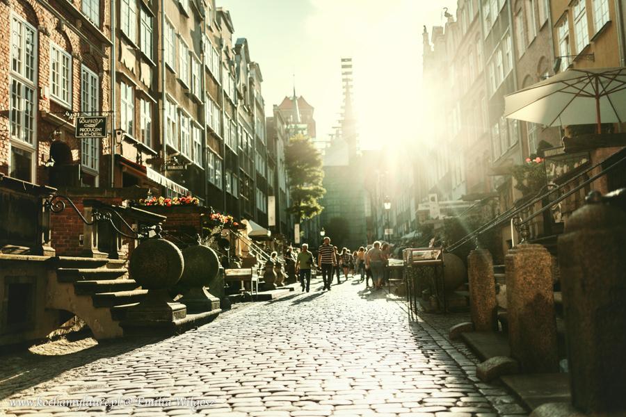 Gdańsk, ulica Mariacka, fotografia jak pocztówka